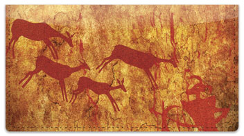 Cave Painting Checkbook Cover
