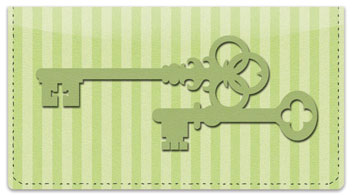 Skeleton Key Checkbook Cover