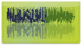 Sound Wave Checkbook Cover