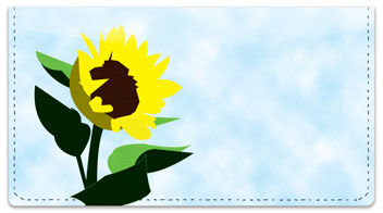 Sunflowers of Peace Checkbook Cover