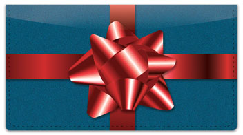 Christmas Bow Checkbook Cover