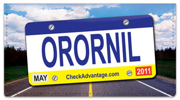 License Plate Checkbook Cover