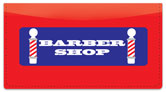 Barbershop Checkbook Cover