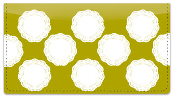 Lace Doily Checkbook Cover