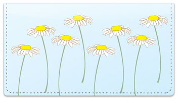 Daisy Design Checkbook Cover