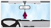 Car Mirror Decor Checkbook Cover