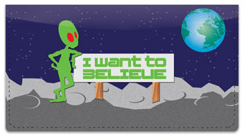 Alien Life Checkbook Cover