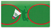 Badminton Checkbook Cover