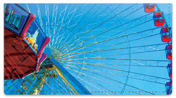 Amusement Park Checkbook Cover
