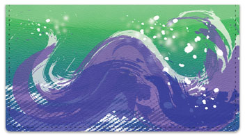 Painted Wave Checkbook Cover