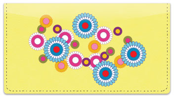 Flashback Flower Checkbook Cover