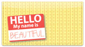 Name Tag Checkbook Cover