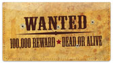 Wild West Checkbook Cover