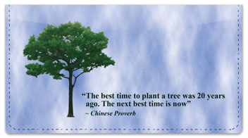 Arbor Day Quote Checkbook Cover