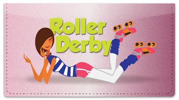 Roller Derby Checkbook Cover