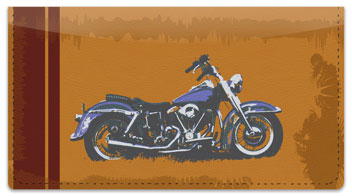 Motorcycle Checkbook Cover