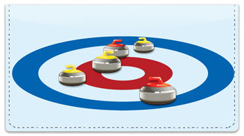 Curling Checkbook Cover