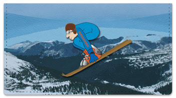 Ski Jumper Checkbook Cover