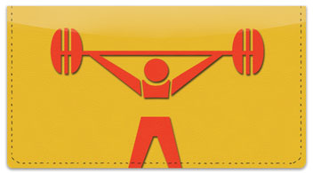 Weightlifting Checkbook Cover