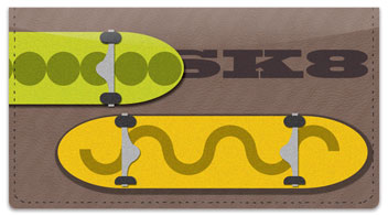 Skateboarding Checkbook Cover