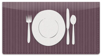 Catering Checkbook Cover