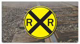 Railroad Crossing Checkbook Cover