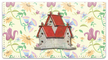 Fancy Birdhouse Checkbook Cover