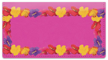 Hawaiian Lei Checkbook Cover