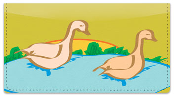 Geese Checkbook Cover