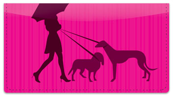 Walk the Dog Checkbook Cover