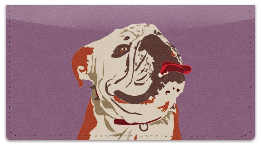 Bulldog Pop Art Checkbook Cover