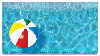 Pool Toy Checkbook Cover