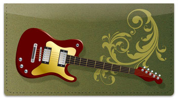 Electric Guitar Checkbook Cover
