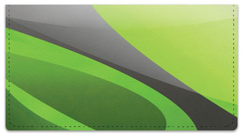 Gray Swoosh Checkbook Cover