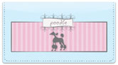 Pink Poodle Checkbook Cover