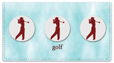 Teeing Off Checkbook Cover
