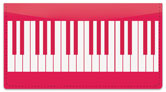 Piano Keyboard Checkbook Cover