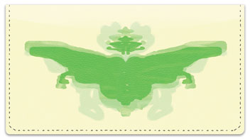 Inkblot Checkbook Cover