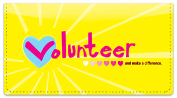 Volunteer Checkbook Cover