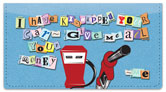 Ransom Note Checkbook Cover