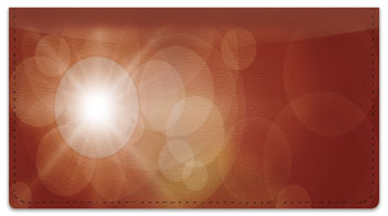 Lens Flare Checkbook Cover