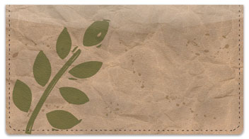 Painted Leaf Checkbook Cover