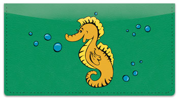 Silly Seahorse Checkbook Cover