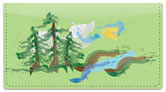 Pine Tree Painting Checkbook Cover