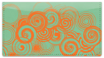 Two-Tone Twirl Checkbook Cover