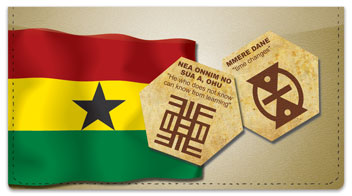 Adinkra Checkbook Cover