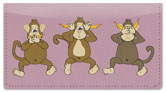 No Evil Monkey Checkbook Cover