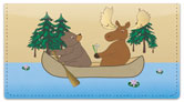 Moose & Bear Checkbook Cover