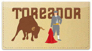 Spanish Bullfight Checkbook Cover