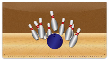 Bowling Alley Checkbook Cover